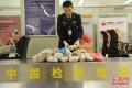 旅客携带大量猪肚等肉类产品入境被截获