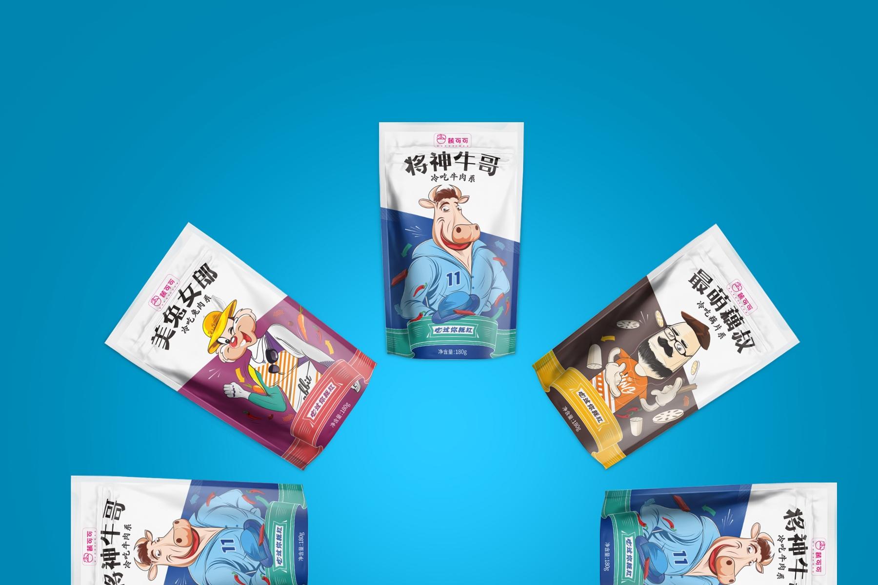 休闲食品-速食兔肉,牛肉,藕丁产品包装设计_中国食品网图片