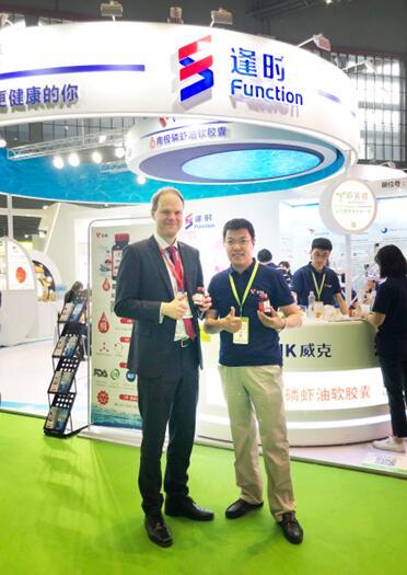 走进2019亚洲营养品展:威克纯磷虾油软胶囊成展会热点