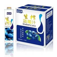 供应金登河生榨蓝莓汁1.5L,厂家批发直发,质量保障售后无忧